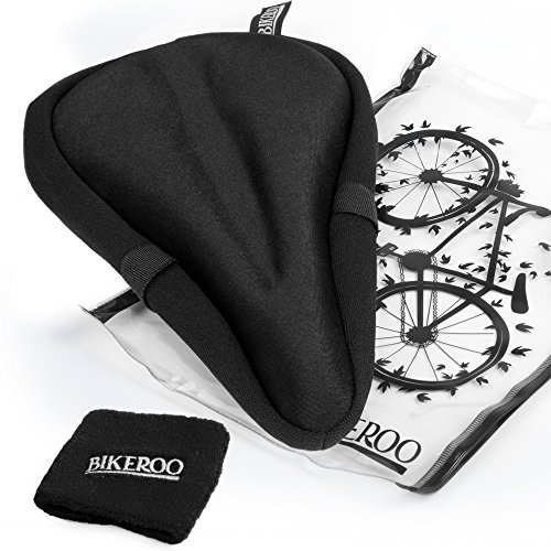 Most Comfortable Exercise Bike Seat Cushion Soft Gel Pad – Universal Bicycle Saddle Cover  ...