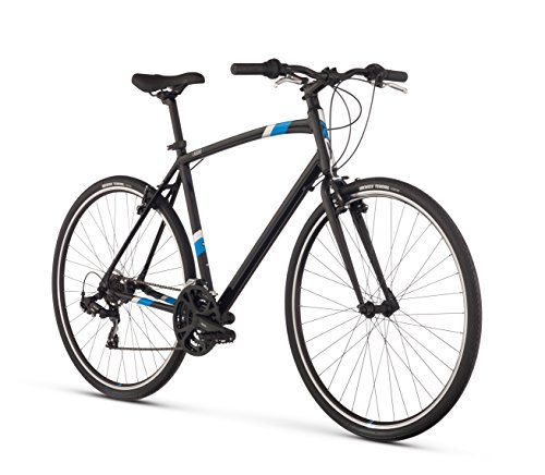 Raleigh Cadent 1 Urban Fitness Bike, 19″ /Lg Frame, Black, 19″ / Large