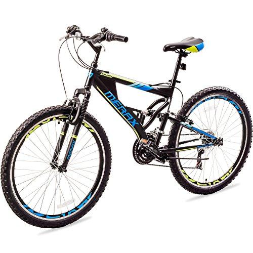 Merax MS036323BAA Falcon Full Suspension Mountain Bike Aluminum Frame 21-Speed 26″ Bicycle