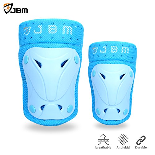 JBM Protective Gear Knee and Elbow Pads Support Guards for Multiple Sports Protection Safety Gea ...