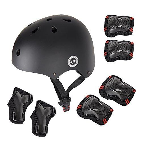 XJD 7Pcs Adjustable Kid's Protective Gear Set, Roller Skating Skateboard BMX Scooter Cycli ...