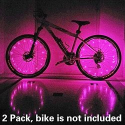 (2 Tiers Pack) Waterproof LED Bike Wheel Light – Safer Bicycle Spokes & Rims Light &#8 ...