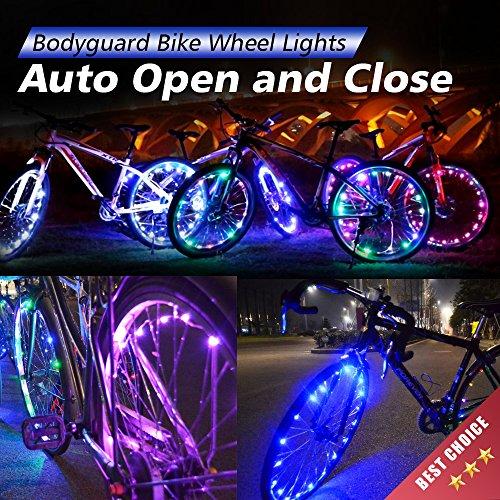 Bodyguard Bike Wheel Lights – Auto Open and Close – Ultra Bright LED – Bike Wh ...