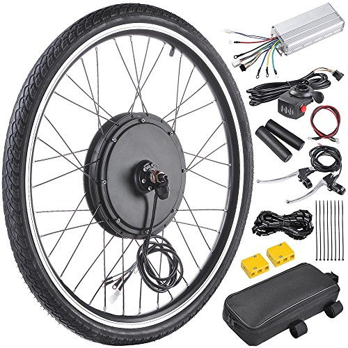 AW 26″x1.75″ Front Wheel Electric Bicycle Motor Kit 48V 1000W Bicycle Cycling Engine ...