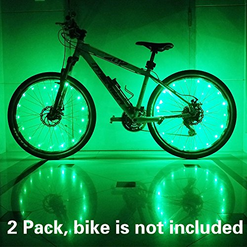 (2 Tiers Pack) Waterproof LED Bike Wheel Light – Safer Bicycle Spokes & Rims Light  ...