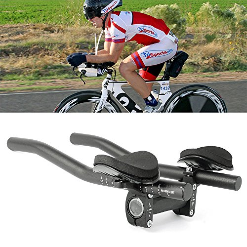 Top Home Dec TT Handlebar Aero Bars Triathlon Time Trial Tri Cycling Bike Rest Handlebar for Bic ...
