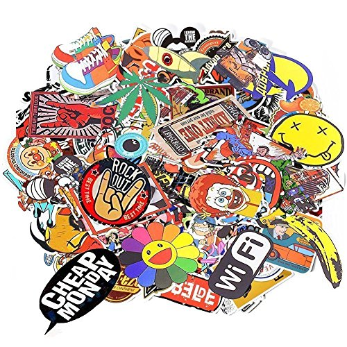 Aikuer 200pcs Laptop Stickers, Car Stickers Skateboard Luggage Bike Motorcycle Bumper Stickers G ...
