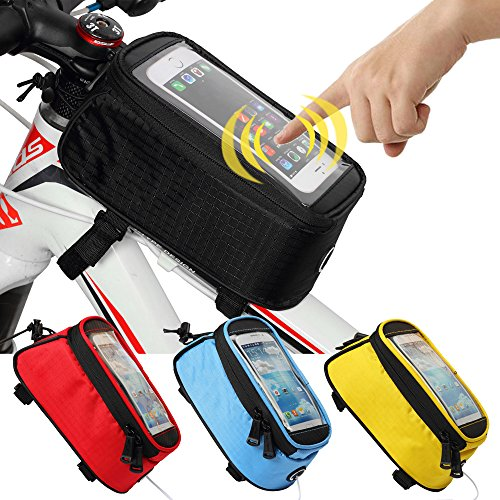 JOY COLORFUL Bicycle Bags Bicycle Front Tube Frame Cycling Packages 4.2,4.8,5.5 inches Touch Scr ...