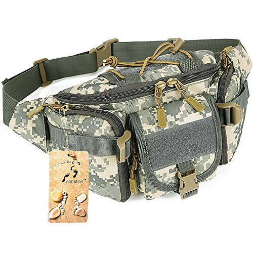 Tactical Waist Pack CREATOR Portable Fanny Pack Outdoor Hiking Travel Large Army Waist Bag Milit ...