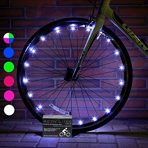 Super Cool Bike Lights (1 Tire, White) Hot Wheels for Boys, Girls & Fun Gift Ideas for Him a ...
