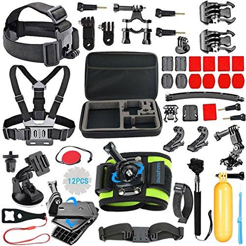 SmilePowo Outdoor Sports Camera Accessories for GoPro Hero 5 / Session 6/5/4/3/2/1,AKASO EK7000, ...