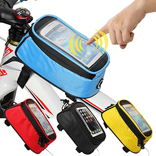 JOY COLORFUL Bicycle Bags Front Tube Frame Cycling Packages Touch Screen Mobile Phone Bags Profe ...