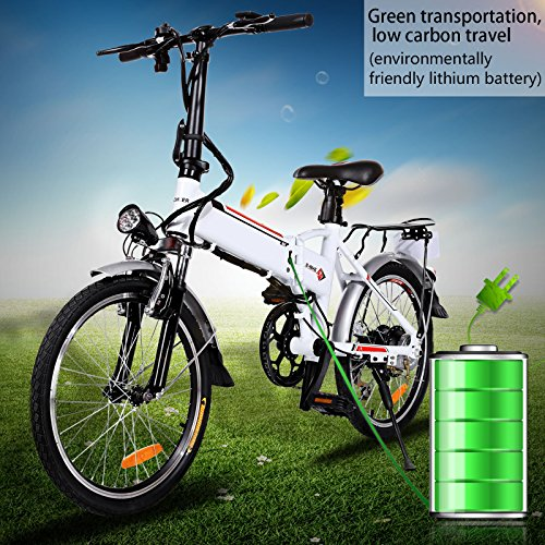 Foldable Electric City Bike with Removable 36V 8AH Lithium-Ion Battery, Lightweight Electric Urb ...