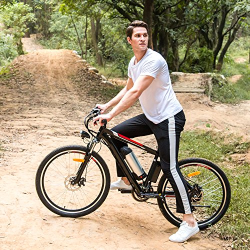 Sheepfun 26″ Powerful Electric Mountain Bike with 36V, 8AH Removable Lithium-Ion Battery,  ...