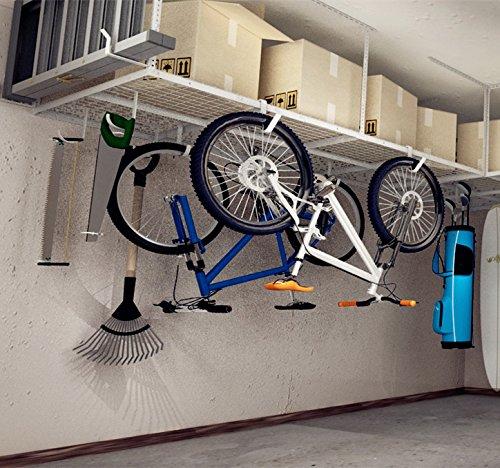 FLEXIMOUNTS 4×8 Overhead Garage Storage Rack Adjustable Ceiling Storage Rack Heavy Duty, 96 ...