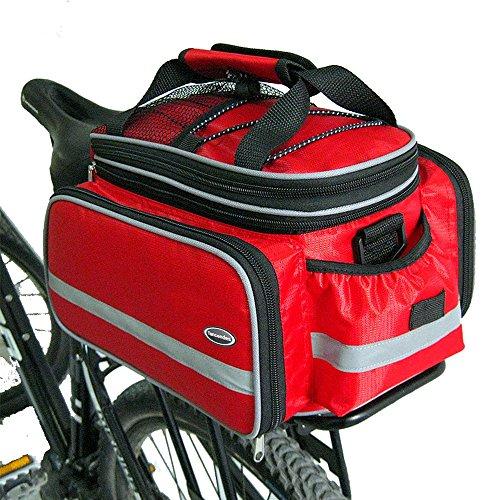 Tancendes Bike Rear Bag Lengthened Shoulder Strap waterproof Nylon Bicycle Seat Trunk Bag with R ...