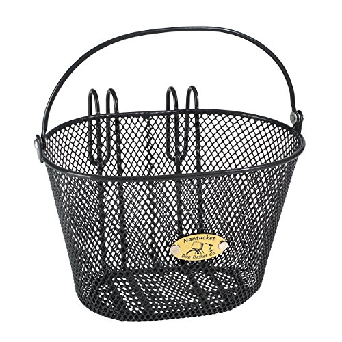 Nantucket Bike Basket Co Kid's Surfside Mesh Wire Basket, Charcoal Grey