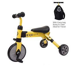 Glaf 2 In 1 Baby Trike with Carry Bag, Toddlers Three Wheels Balance Bike and Tricycle, Lightwei ...