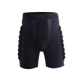 Ohmotor 3D Padded Protective Shorts Hip Butt EVA Pad Short Pants Heavy Duty Protective Gear Guar ...