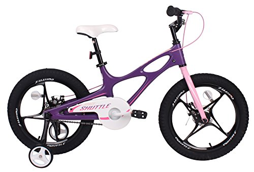 Royalbaby Space Shuttle kid's bike, lightweight magnesium frame with training wheels, 14 i ...