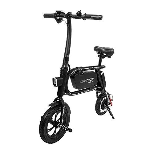 200W SWAGCYCLE Envy Steel Frame Folding Electric Bicycle e Bike w/ Automatic Headlight – Reach 1 ...