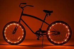 Brightz, Ltd. Wheel Brightz LED Bicycle Accessory Light (2-Pack Bundle for 2 Tires), Orange