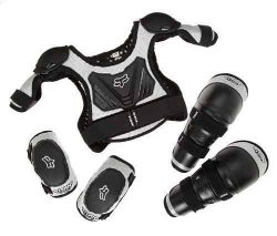 Fox Titan Youth Combo Pack – Bundle with Roost Protector, Knee Guards, Elbow Guards for Di ...