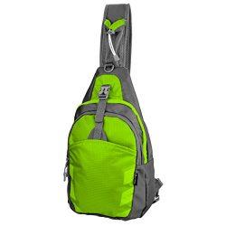 Sling Bag Chest Shoulder Unbalance Gym Fanny Backpack Sack Satchel Outdoor Bike nylon fabric gre ...