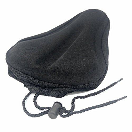 AISHEMI Breathable Soft Comfortable Cycling Bike Saddle Gel Seat Cushion Pad Cover 9″x6 ...