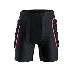 Ohmotor 3D Padded Protective Shorts Hip Butt EVA Pad Short Pants Heavy Duty Protective Gear Guar ...