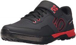 Five Ten Men's Kestrel Lace Mountain Bike Shoes (Clipless, Black/Red, 9.5)