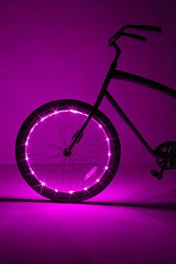 Brightz, Ltd. Wheel Brightz LED Bicycle Accessory Light (for 1 Wheel), Pink
