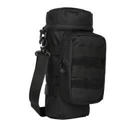 MOLLE Water Bottle Holder Pouch Carrier Sling Bag Carrying Case for Walking Hiking Camping Cycli ...