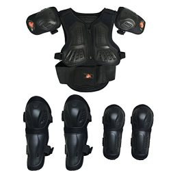 Kids Motorcycle Armor Suit Dirt Bike Chest Spine Protector Back Shoulder Arm Elbow Knee Protecto ...