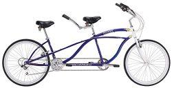 J Bikes by Micargi Island 26″ 18-Speed 2-Seater Tandem Bicycle Beach Cruiser Bike – Blue