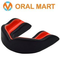 """Oral Mart """"Cushion"""" Sports Mouth Guard for Kids (Black/Red) – Premium Youth Sp ..."""