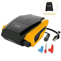 Auto Shut-Off 12v Car Tire Inflator Air Compressor Pump 150PSI, Preset Tire Pressure with Emerge ...