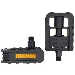 ARTHEALTH Folding Bicycle Pedals Bike Pedals For Folding Bike Nylon Folding Bike Pedals 9/16 Inc ...