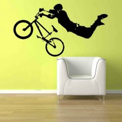 Giant BMX Bike Bicycle Kid Teen Room Wall Art Removable Home Decor Vinyl Decal Sticker 22″ ...
