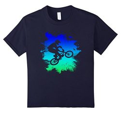 Kids BMX Bike T-Shirt For Riders 8 Navy