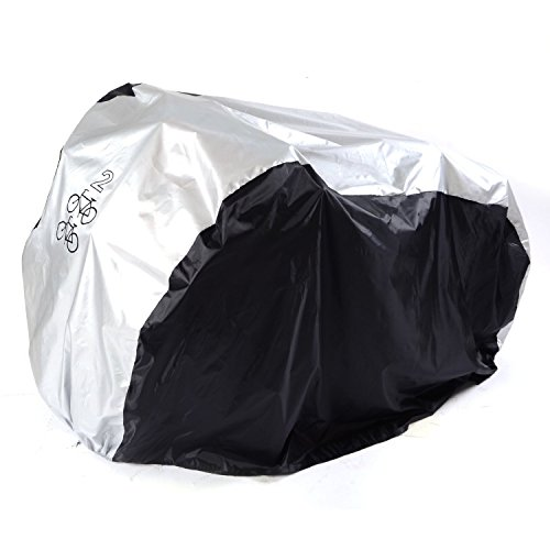 Universal Outdoor Waterproof Bicycle Cover Storage – Extra Large Heavy Duty PU Bike Cover  ...