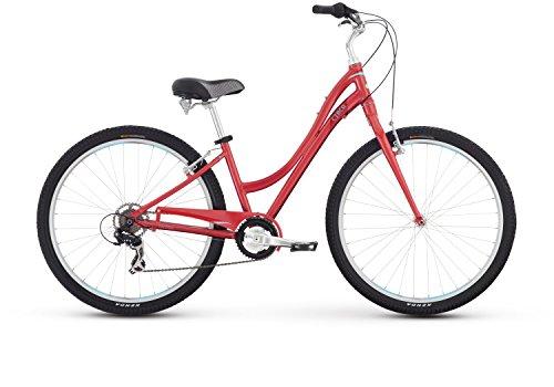 Raleigh Bikes Women's Circa 1 Step Thru Comfort Bike, 15″/Small, Red