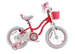 Royalbaby Stargirl Girl's Bike with Training Wheels and Basket, Perfect Gift for Kids. 14  ...