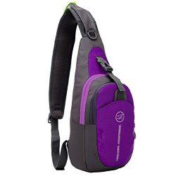TeyxoCo Women Lightweight Ultra-thin Waterproof Nylon Bag Outdoor Sports Bag