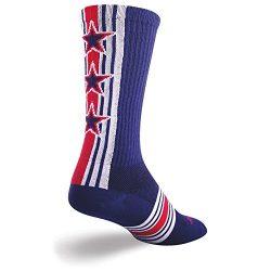 SockGuy Crew 8in Derby Cycling/Running Socks (Derby – S/M) Size Medium