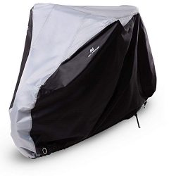 Art-Venture Bike Cover Waterproof Outdoor Bicycle Cover Heavy Duty 210T Ripstop Fabric Anti-UV P ...