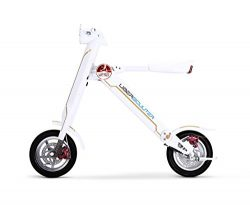 The Uber Scuuter Plus – The Electric Foldable Scooter Bike (White)