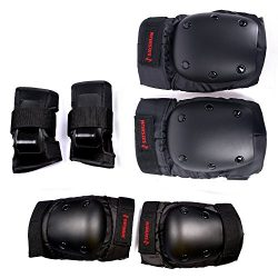 SAYSHUN Protective Gear Sets for Skateboard Cycling Roller Skating Outdoor Sport Blading Knee El ...