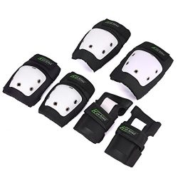 Knee Pads Elbow Pads Wrist Guards 3 in 1 Set For Skateboarding Inline Skate Roller Skating Cycli ...