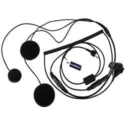 abcGOODefg® 2 Pin Full Face Helmet Motorcycle Earphone Headphone with Microphone for Midland/Ala ...